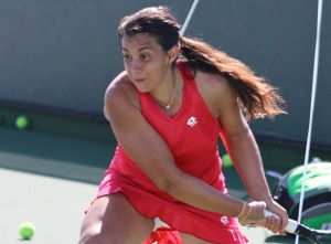 Marion Bartoli trains at Indian Wells, 2012