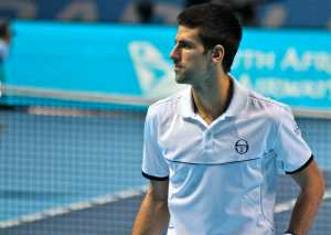 Novak Djokovic at the World Tour Finals in London, 2011