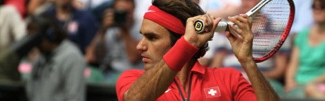 Roger Federer of Switzerland at 2012 Olympics
