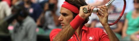 Roger Federer of Switzerland at 2012 Olympics