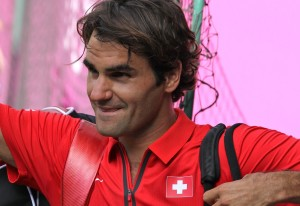Roger Federer, playing for Switzerland at 2012 Olympics