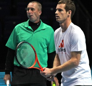 Ivan Lendl coaching Andy Murray at WTFs