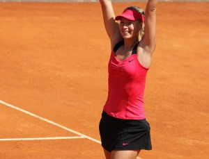Maria Sharapova winning Rome Premier, 2012